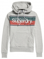 SUPERDRY CORE STRIPE HOOD Grey Marl