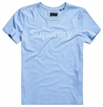 SUPERDRY REG FLOCK ENTRY TEE Light Chambray T-Shirt
