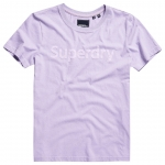 SUPERDRY REG FLOCK ENTRY TEE Parma Violet T-Shirt