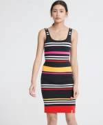 SUPERDRY MIAMI BODYCON DRESS Navy Stripe