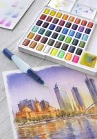 Faber-Castell Aquarellfarben in Näpfchen 48er Etui