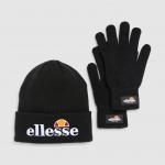 Ellesse VELLY & BUBB Gift Pack schwarz (Mütze und Handschuhe)