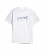 LEVIS HOUSEMARK GRAPHIC TEE - SSNL HM OUTLINE WHITE T-SHIRT