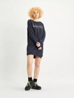 LEVIS CREW SWEATSHIRT DRESS - SERIF SLIT MULTICOLOR CAVIAR