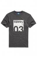 SUPERDRY T- SHIRT CL TRANSIT TEE Darkest Charcoal Marl