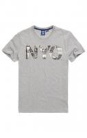 SUPERDRY T- SHIRT VL NYC PHOTO TEE Grey Marl