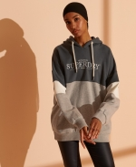 SUPERDRY NYC TIMES COLOUR BLOCK HOOD Cream
