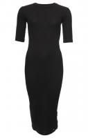 SUPERDRY NYC MULTI RIB TSHIRT DRESS Black
