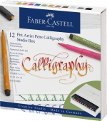 Faber Castell Pitt Artist Pen Calligraphy 12er Atelierbox