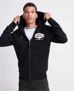 SUPERDRY MONO LC ZIPHOOD Black
