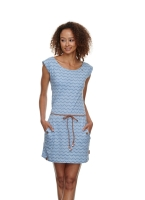 RAGWEAR TAG CHEVRON Jerseykleid BLUE