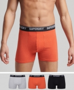 SUPERDRY BOXER DOUBLE PACK Dark Marl Multipack