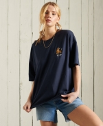 SUPERDRY MILITARY NARRATIVE BOXY TEE Lauren Navy