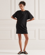 SUPERDRY COTTON MODAL TSHIRT DRESS Black