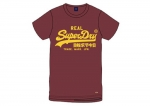 SUPERDRY Vintage Logo Chenille-T-Shirt Tief Portrot