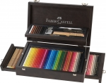 Faber-Castell Art & Graphic Collection Holzkoffer 125-teilig