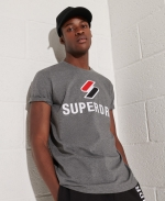 SUPERDRY Sportstyle T-Shirt Mit Chenille-Grafik GRAU