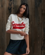 SUPERDRY Limited Edition College Chenille-Sweatshirt Creme