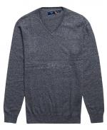 SUPERDRY Vintage Pullover aus Kaschmir-Mischgewebe und Bio-Baumwolle Dark Charcoal Jaspe