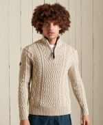 SUPERDRY Jacob Henley Pullover Oatmeal Marl